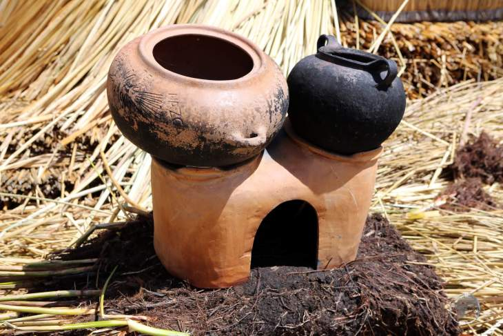 Fire can be very destructive in a world where everything is made of dried reeds. Kitchen stoves are fired on damp peat mounds, ensuring an entire island doesn't go up in flames!