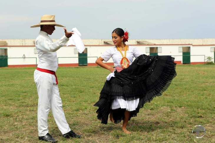 Featuring Spanish and Andean influences, the 'Peruvian Marinera', seen here in Trujillo, is an elegant re-enactment of a courtship, and it shows a blend of the different cultures of Peru.