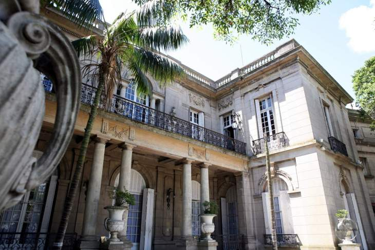 The Museum of Decorative Arts in Montevideo is housed in the ornate Palacio Taranco.