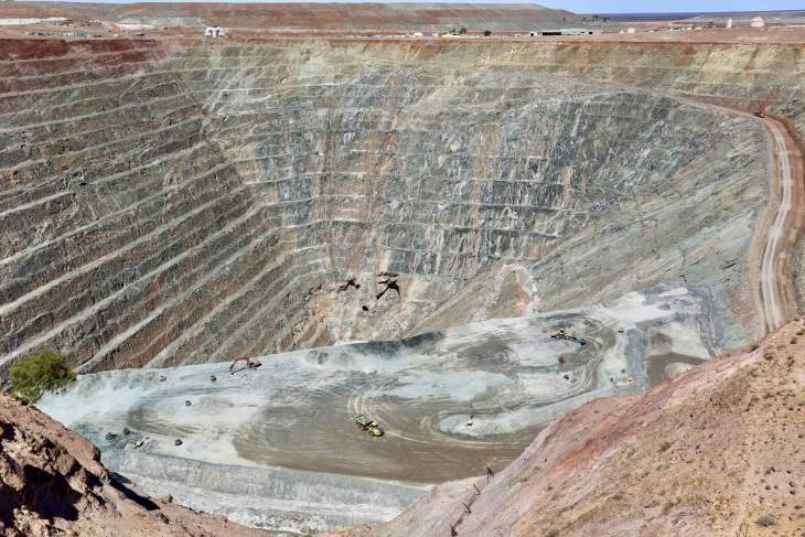 A panoramic view of the Gwalia Gold Mine, Leonora, Western Australia.
