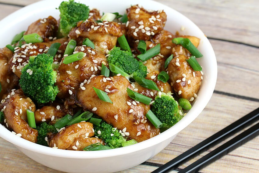 Low Carb Sesame Chicken for keto lunch