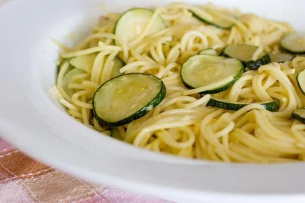 Zucchini Spaghetti with Saffron Sauce   www.tasteandtellblog.com