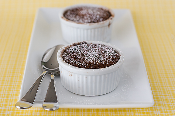 Hot Chocolate Souffles {Cookbook of the Month Recipe ...