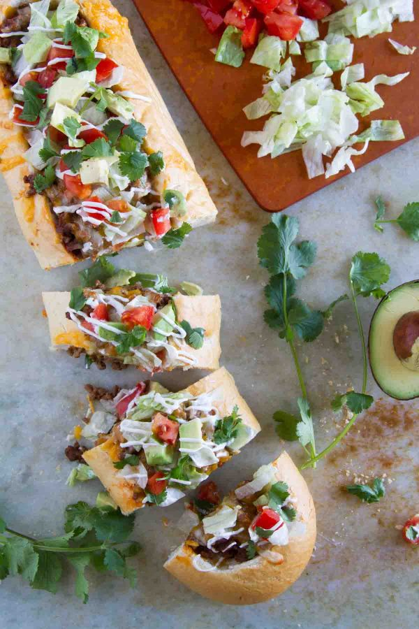 Taco French Bread Pizza - Taste and Tell
