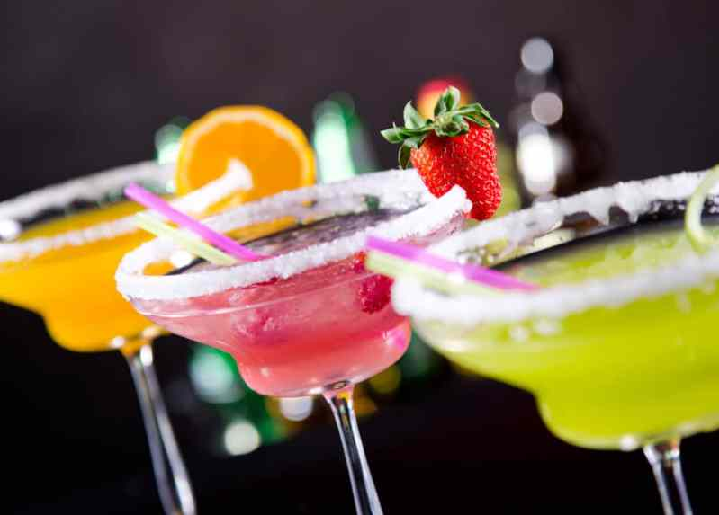 Flavored Cocktails In A Row
