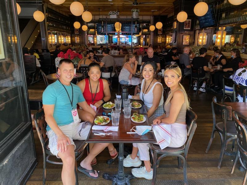 patio dining on the Strip Taste Buzz Vegas Food Tours