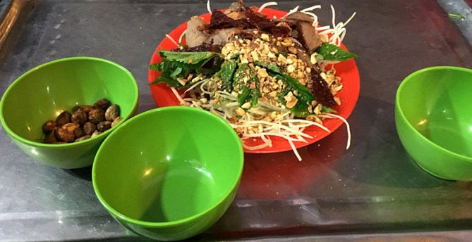 Dried Beef Papaya Salad