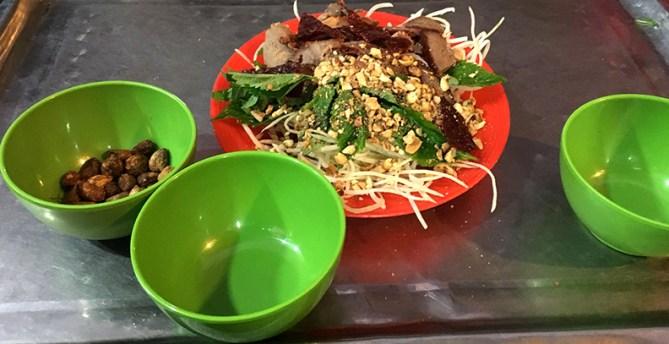 Dried Beef Papaya Salad