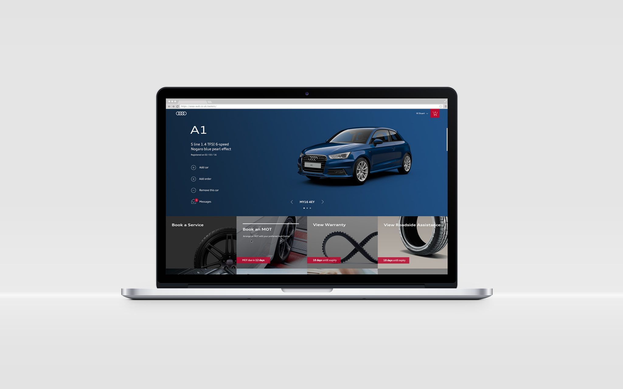 Audi Owners Dashboard