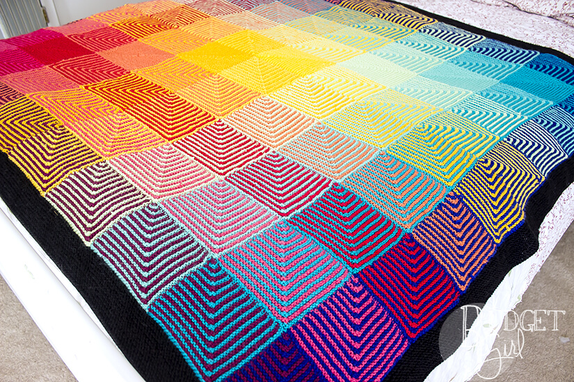 Rainbow Hue Shift Blanket Tastefully Eclectic
