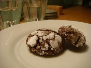 Mocha Crinkles, baked by me 5.31.09