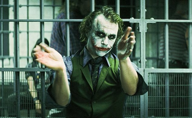 Image result for Joker TDK jail scene