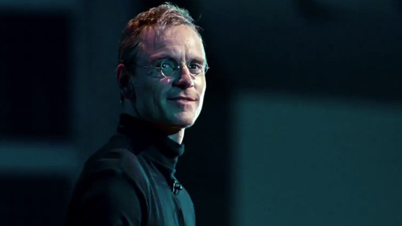 Fassbender as Apple Inc. founder Steve Jobs, in the 2015 Danny Boyle film of the same title.