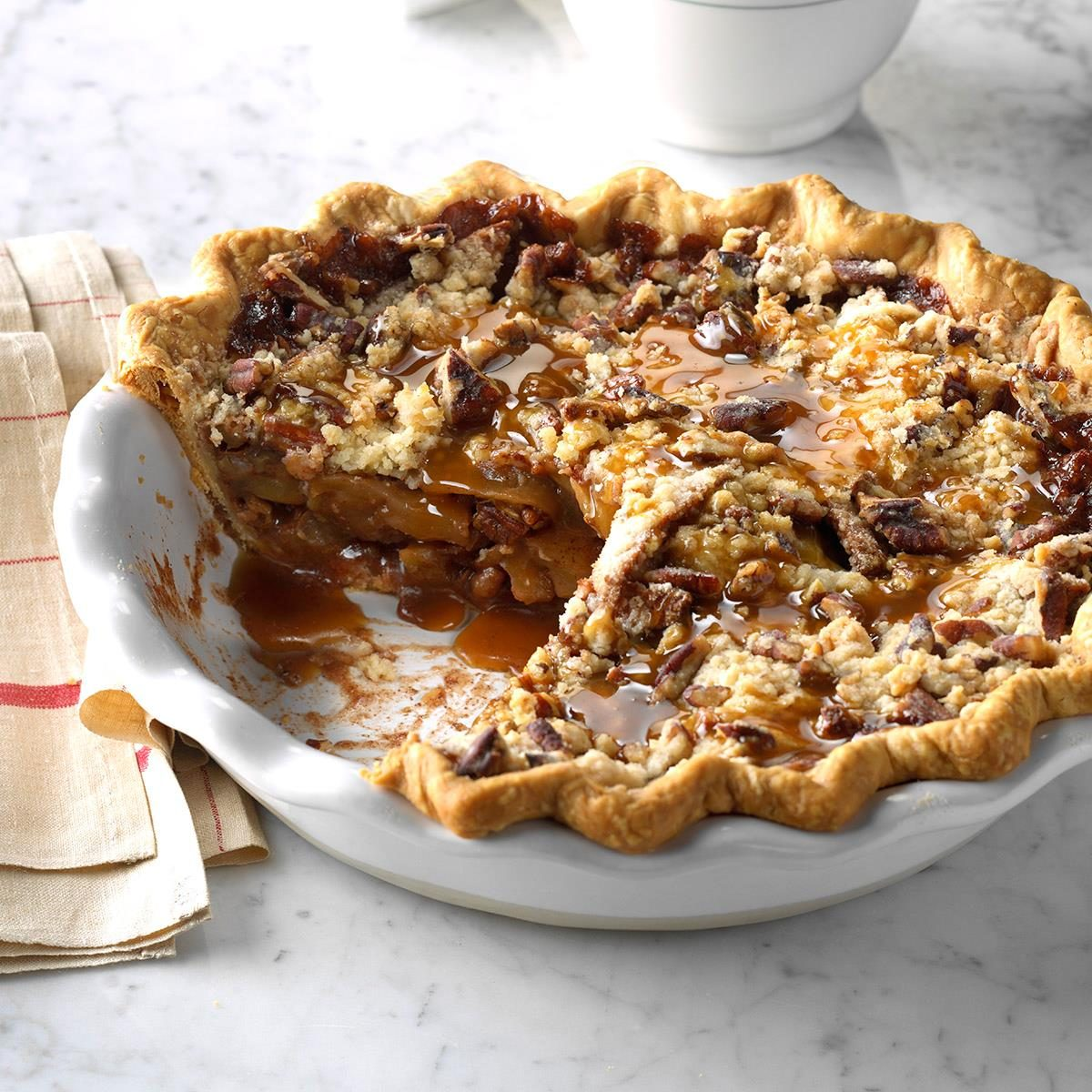 Caramel Pecan Apple Pie Recipe Taste Of Home