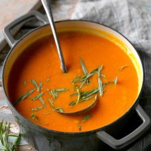 Carrot Soup with Orange & Tarragon