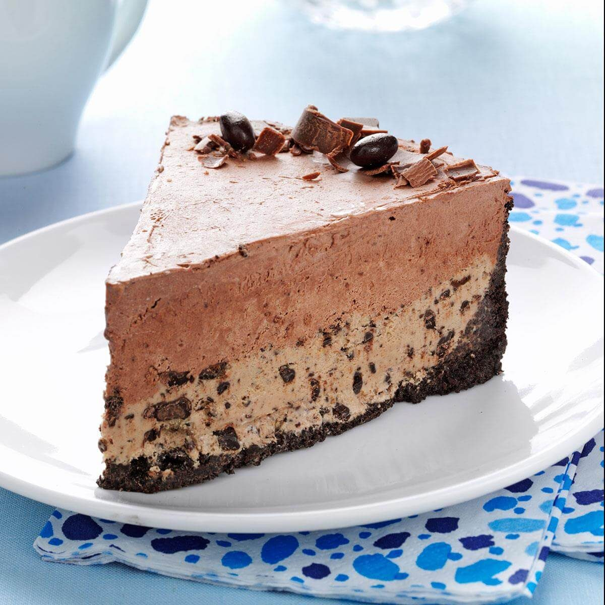 Chocolate Coffee Bean Ice Cream Cake Recipe Taste Of Home