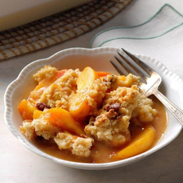 Lime & Spice Peach Cobbler