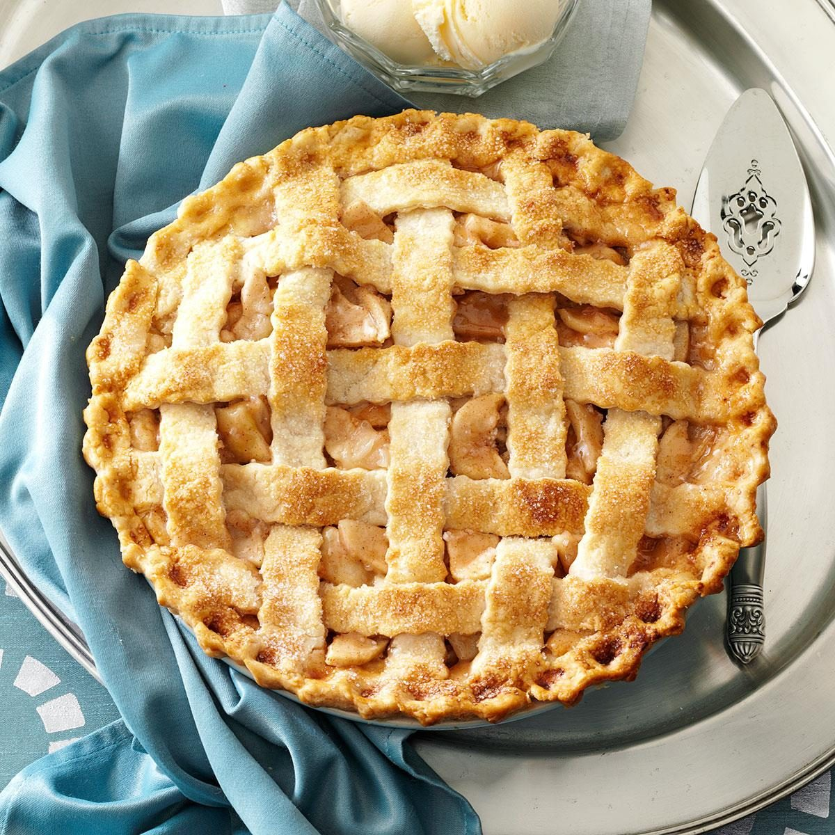 Lattice Topped Apple Pie Recipe Taste Of Home