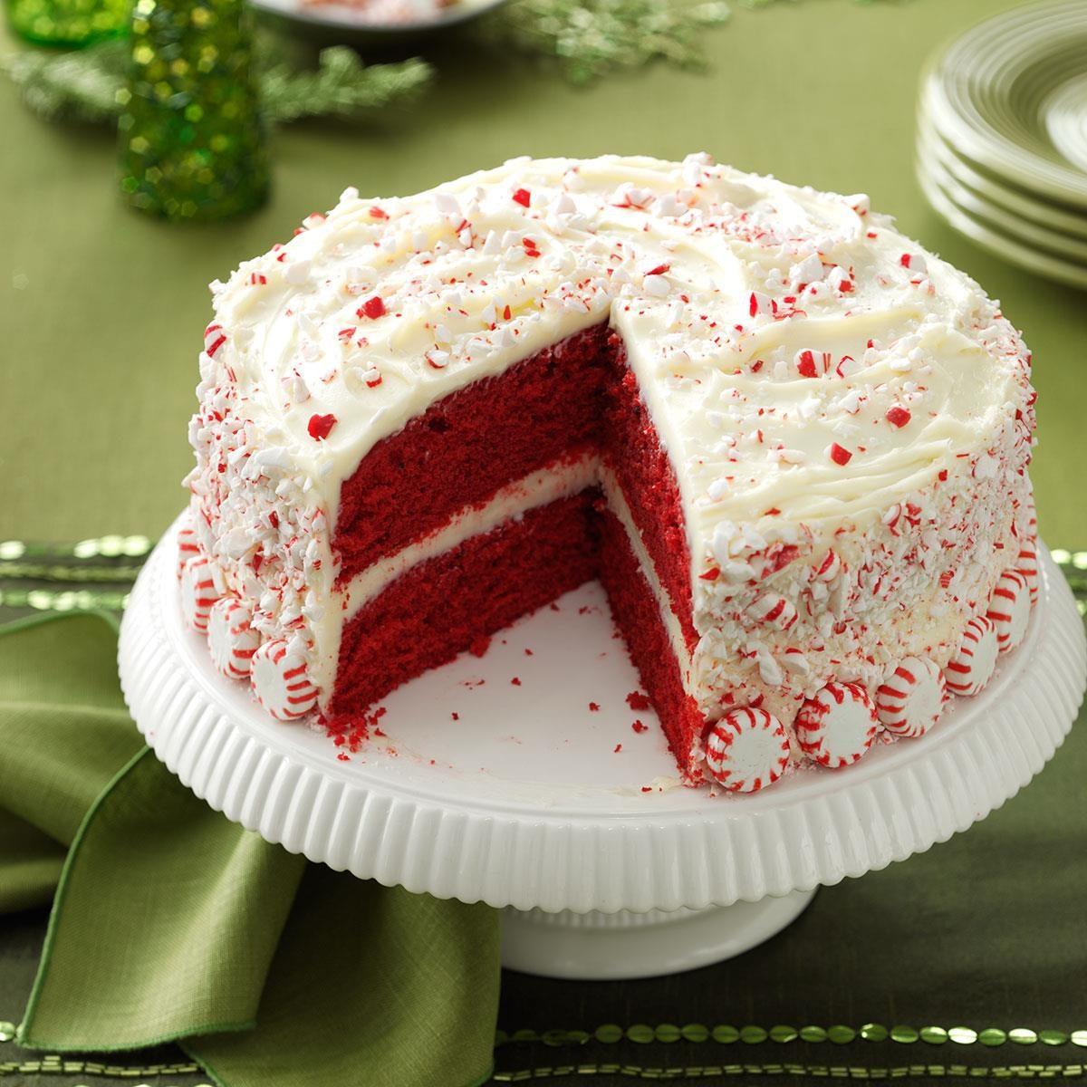 Peppermint Red Velvet Cake Recipe Taste Of Home