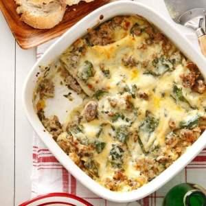 Day 3: Sausage & Swiss Chard Lasagna