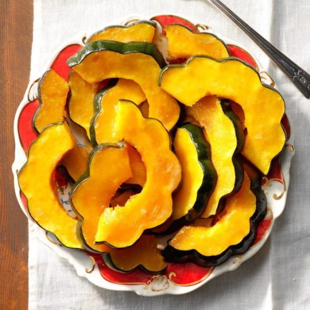 Candied Acorn Squash Slices