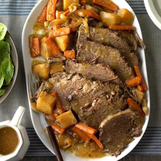 Slow-Cooked Rump Roast