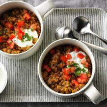 Tomato-Garlic Lentil Bowls