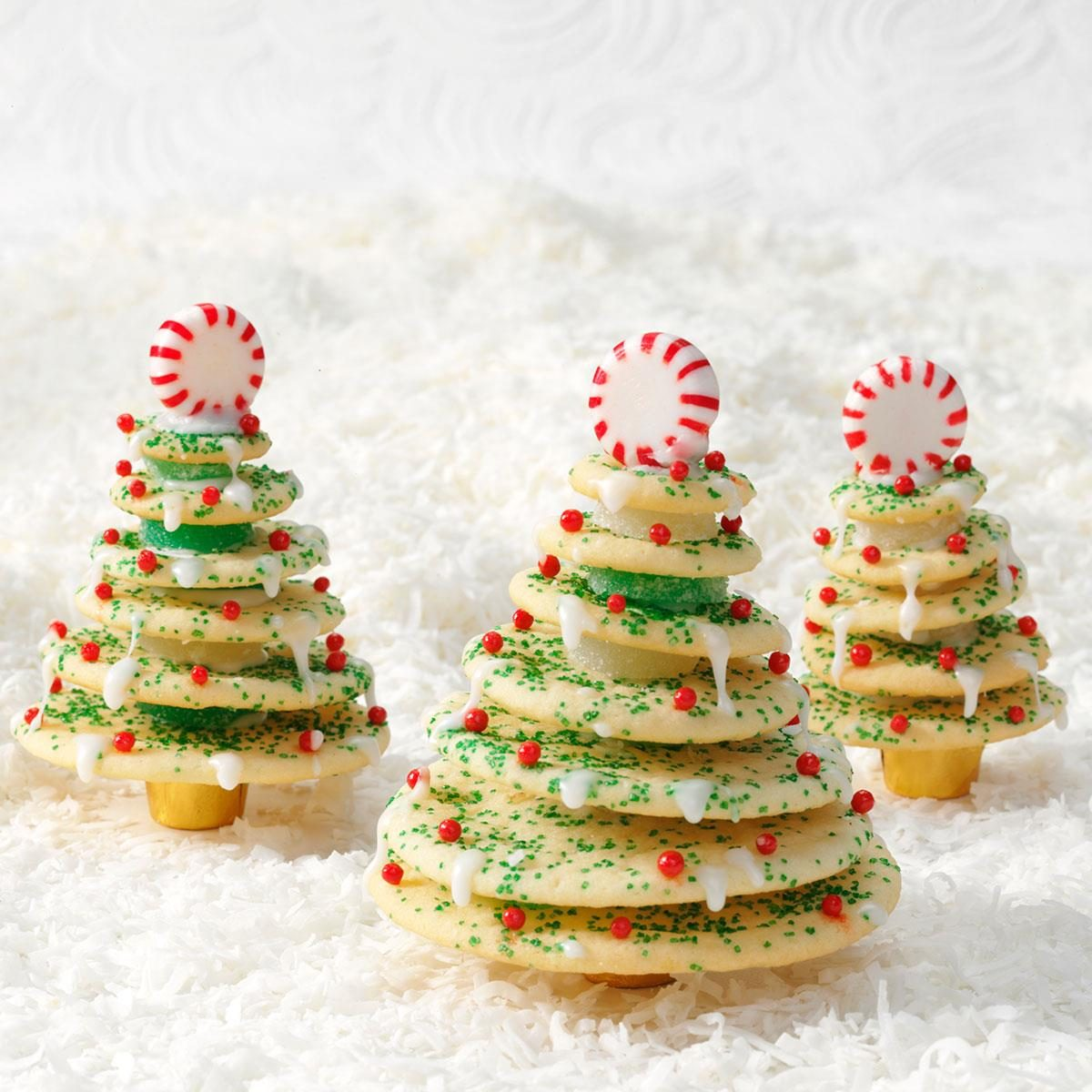 Stacked Christmas Tree Cookies Recipe