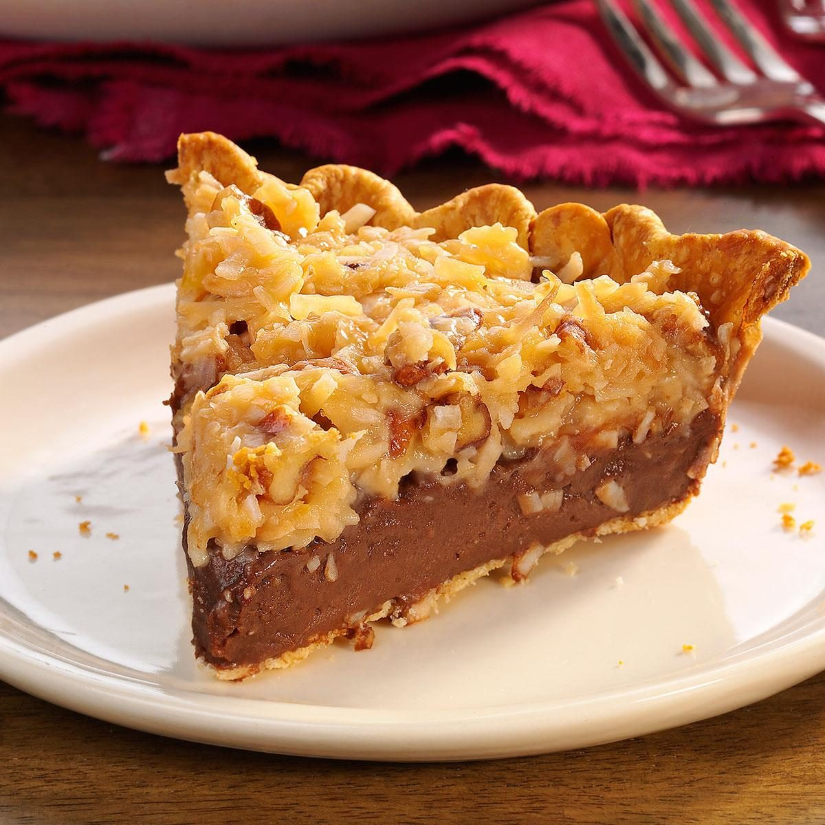 Contest Winning German Chocolate Pie Recipe Taste Of Home