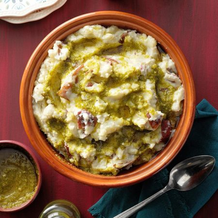 Pesto Mashed Potatoes