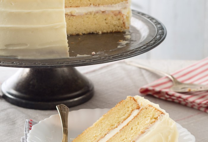 Vanilla Cake With White Chocolate Peppermint Frosting Taste Of The