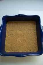 graham cracker crust in a 9 x 9 inch baking dish