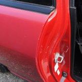 Red door jam, Pink panel