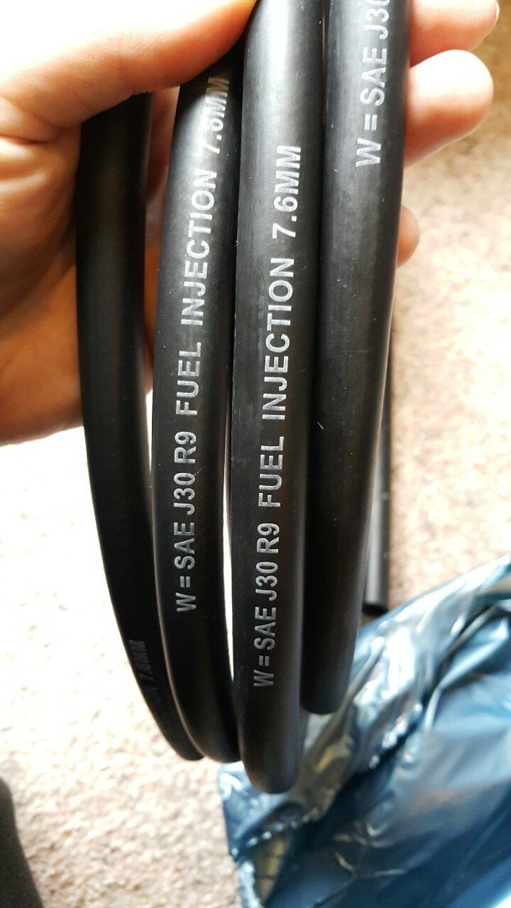How do you quickly identify the hose in question? The white printing on it. If it has similar to this printed on it be warned. & PSA: Low Quality SAE J30 R9 Fuel Hose u2013 Tastes Like Petrol