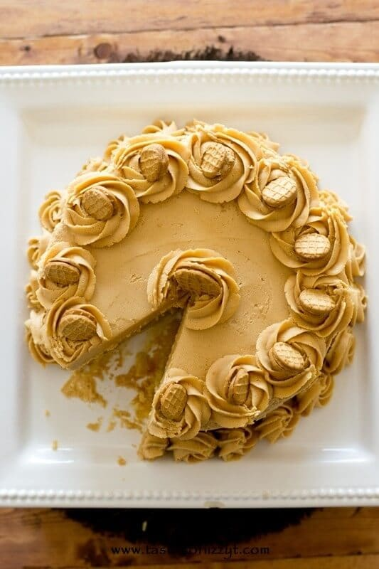 Nutter Butter Peanut Butter Cake - Tastes of Lizzy T