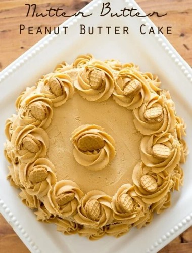 Nutter Butter Peanut Butter Cake - Tastes of Lizzy T