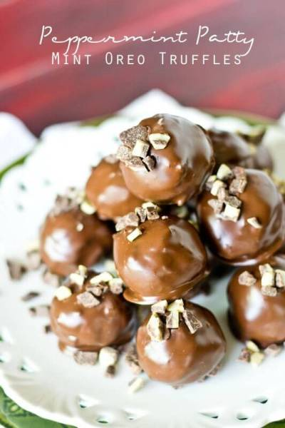 Peppermint Patty Mint Oreo Truffles