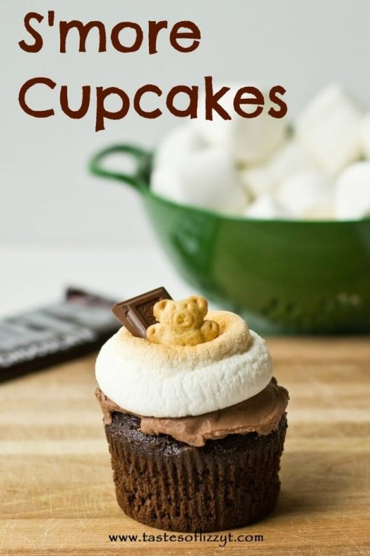 S'more Cupcakes {Tastes of Lizzy T}