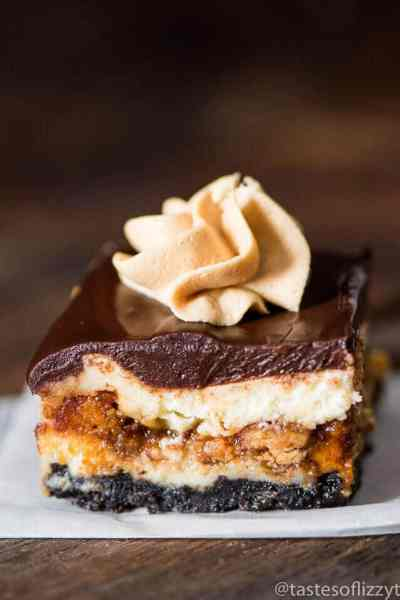Reese's Butterfinger Cheesecake Bars