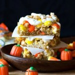 White Chocolate MM Cookie Bars {Tastes of Lizzy T}