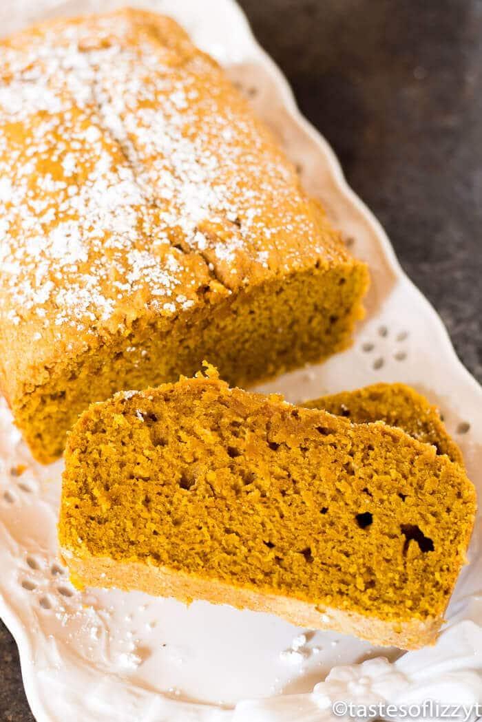 moist and tender loaf of pumpkin bread