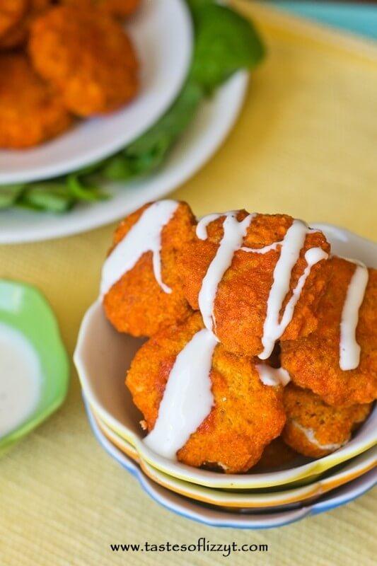 Homemade Buffalo Chicken Nuggets I Tastes of Lizzy T I