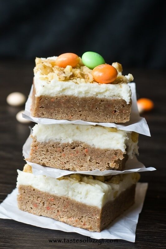 Carrot Cake Bars I Tastes of Lizzy T I