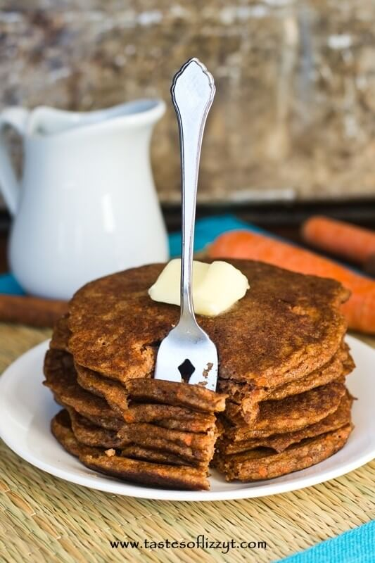 Carrot Cake Pancakes I Tastes of Lizzy T I