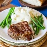Slow Cooker Classic Meatloaf is made so simply with just 4 ingredients