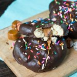 Chocolate Covered Caramel Sourdough Pretzels uses soft caramels to make a sweet & salty snack that is quick, easy and so delicious!