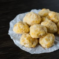 Simple Homemade Cheddar Cheese Puffs are great for school lunches, after school snacks, or salad or soup toppers. They've got a bit of a crunch, but will melt in your mouth!