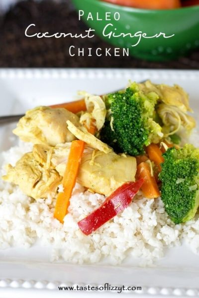 Slow Cooker Coconut Ginger Chicken