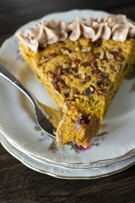Pumpkin Lovers...you'll love this Pumpkin Pecan Cookie Pie with bursts of cinnamon inside and melt-in-your-mouth cinnamon buttercream on top.