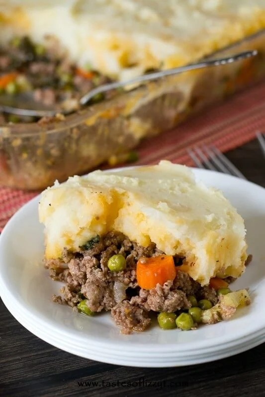 Eat a comforting but healthy dinner with this Paleo Shepherd's Pie. Fill with your favorite veggies and top with white or sweet potatoes.